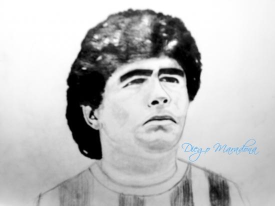 Diego Maradona by RamAryan